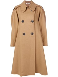 Mantu Double Breasted Trench Coat Brown