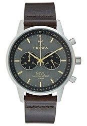Triwa Smoky Nevil Chronograph Watch Dark Brown Classic