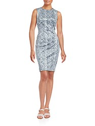 Calvin Klein Python Print Sheath Dress Tin Multi