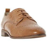 Dune Wide Fit Foster Lace Up Leather Brogues Tan