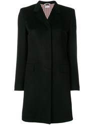 Thom Browne Bow Back Cashmere Chesterfield Overcoat Black