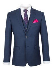 Alexandre Of England Pick And Pick Tailored Fit Jacket Navy