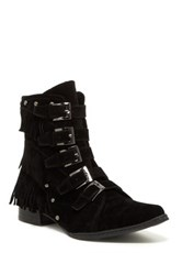 Penny Loves Kenny Swish Velvet Ankle Boot Black