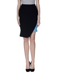 Emanuel Ungaro Knee Length Skirts Black