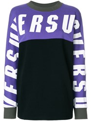 Versus Logo Sweatshirt Cotton Black