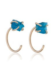 Melissa Joy Manning Blue Apatite Earrings Metallic