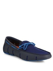 Swims Braided Lace Loafers Ocean