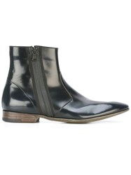 Premiata Book Brass Zipped Boots Black
