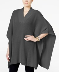 Styleandco. Style Co. V Neck Sweater Poncho Only At Macy's Steel Grey Heather