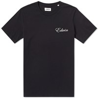 Edwin So Far So Good Tee Black