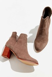 Urban Outfitters Sasha Whip Stitch Suede Ankle Boot Grey