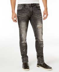 Inc International Concepts Men's Ripped Skinny Jeans Only At Macy's Black Acid Wash