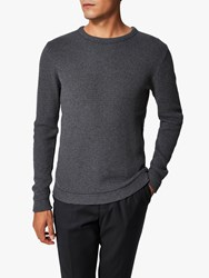 Selected Homme Organic Cotton Knitted Jumper Grey