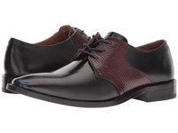 Giorgio Brutini Gotham Navy Bordo Lace Up Wing Tip Shoes Brown