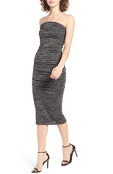Leith Women's Space Dye Tube Dress Grey Medium Charcoal Heather