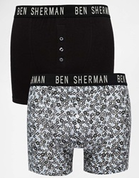 Ben Sherman 2 Pack Trunks Black