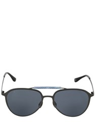 Hublot Italia Independent Blue Camo Gunmetal Aviator Sunglasses