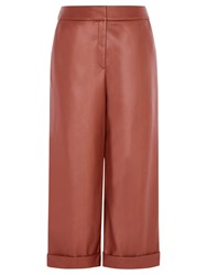 Karen Millen Faux Leather Culottes Tan
