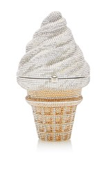 Judith Leiber Couture Ice Cream Cone Clutch Multi