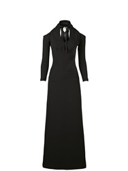 Ppq Cream Label Gothic Maxi Dress Black Black