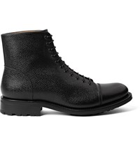 O'keeffe Scout Pebble Grain Leather Boots Black