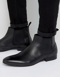 Dune Mister Chelsea Boots In Black Leather Black