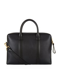 Tom Ford Buckley Grained Leather Briefcase Unisex Black