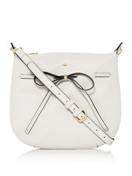 Nica Bow Tie Crossbody White