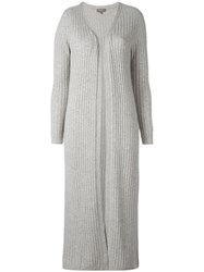 N.Peal Ribbed Knit Duster Cardigan Nude Neutrals