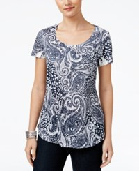 Styleandco. Style Co. Paisley Print Top Only At Macy's Indian Islands