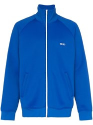 Kenzo Zip Up Stand Collar Track Jacket Blue