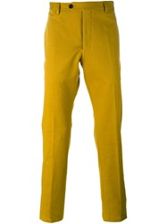 Al Duca D'aosta 1902 Classic Tailored Trousers Yellow Orange