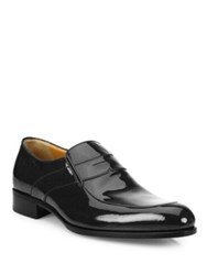 A. Testoni Slip On Patent Leather Shoes Black