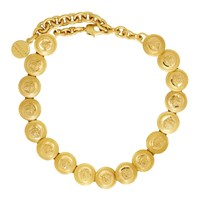 Versace Gold Tribute Coin Choker