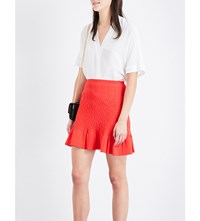 Sandro Flared Hem Knitted Skirt