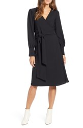 Halogen Wrap Dress Black