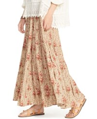 Denim And Supply Ralph Lauren Floral Print Gauze Maxi Skirt