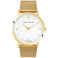 Larsson And Jennings Lugano 38Mm Gold Plated Chain Metal Watch Gold White Gold