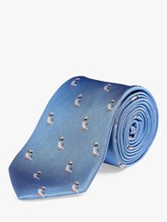 Chester Barrie By Puffin Silk Tie Blue