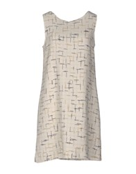 Shirtaporter Short Dresses Ivory