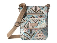 Sakroots Artist Circle Small Flap Messenger Turquoise Brave Beauti Cross Body Handbags Multi