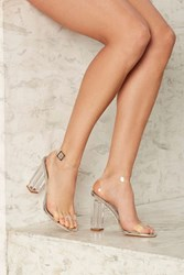 Clear The Air Lucite Heel Silver 77487