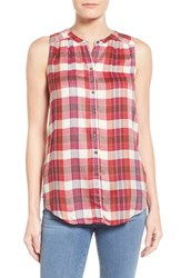 Women's Lucky Brand Sleeveless Plaid Shirt
