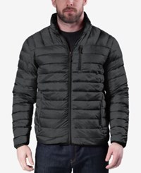 Hawke And Co. Outfitter Men's Big Tall Quilted Packable Down Jacket Dark Grey