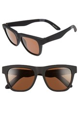 Toms Men's Dalston 52Mm Sunglasses Matte Black Solid Brown