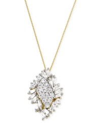 Wrapped In Love Diamond Cluster Pendant Necklace 1 Ct. T.W. In 14K Gold Yellow Gold