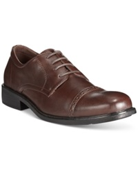 Alfani Jay Cap Toe Oxfords Only At Macy's Men's Shoes Brown