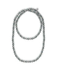 Majorica Endless Faux Pearl Strand Necklace Silver