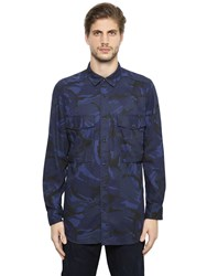 G Star Type C Long Camo Cotton Shirt