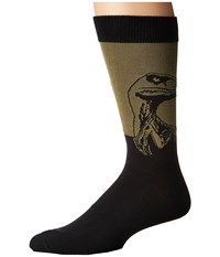 Socksmith Raptor Extended Size Olive Crew Cut Socks Shoes